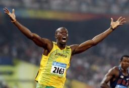 รูปภาพ เจ้าของสถิติโลก 100 ม. Usain Bolt